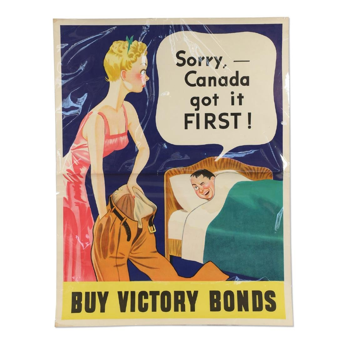 """WWII  """"Buy Victory Bonds"""" Poster"""