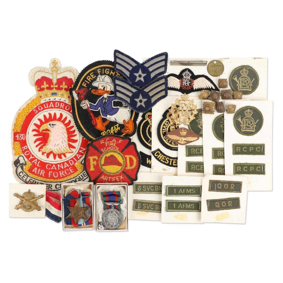 Canadian WWII Badges & Medals
