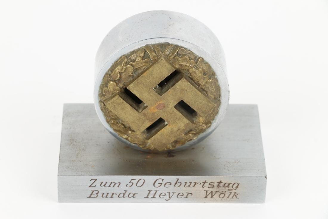 German WWII Presentation Paperweight - 2