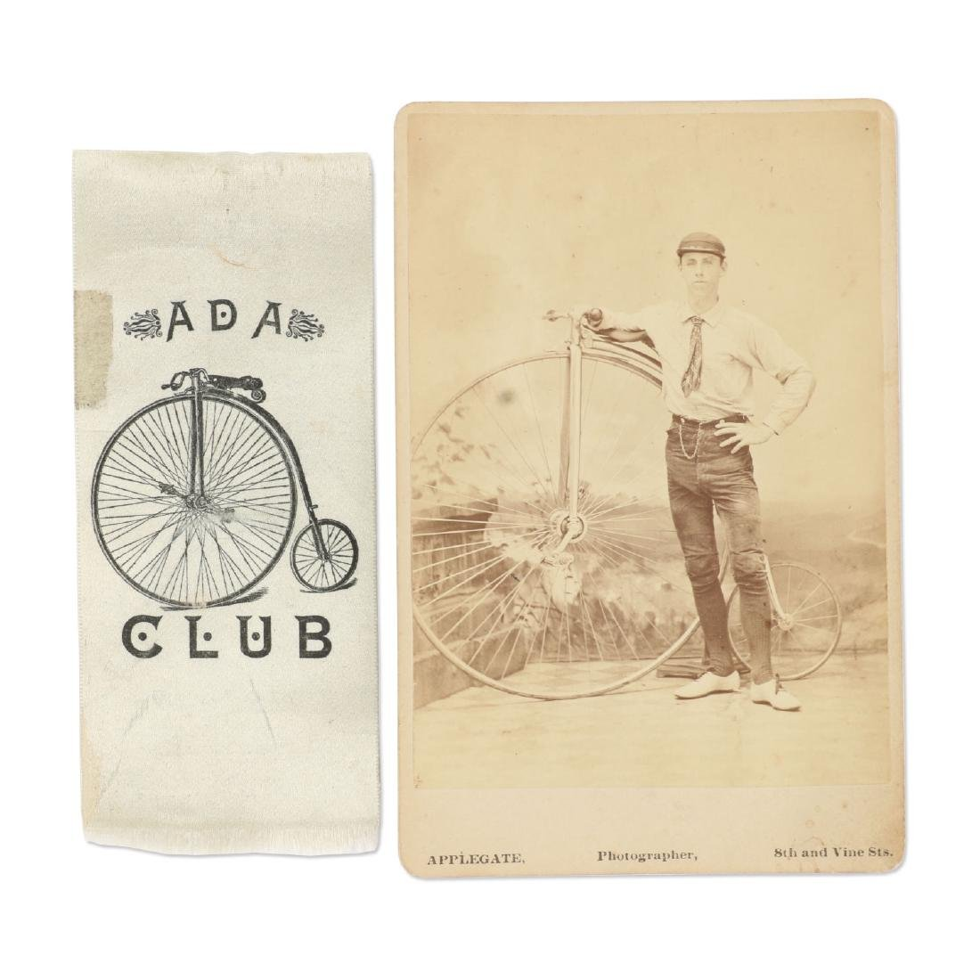 Victorian Bicycle Photograph, Ribbon