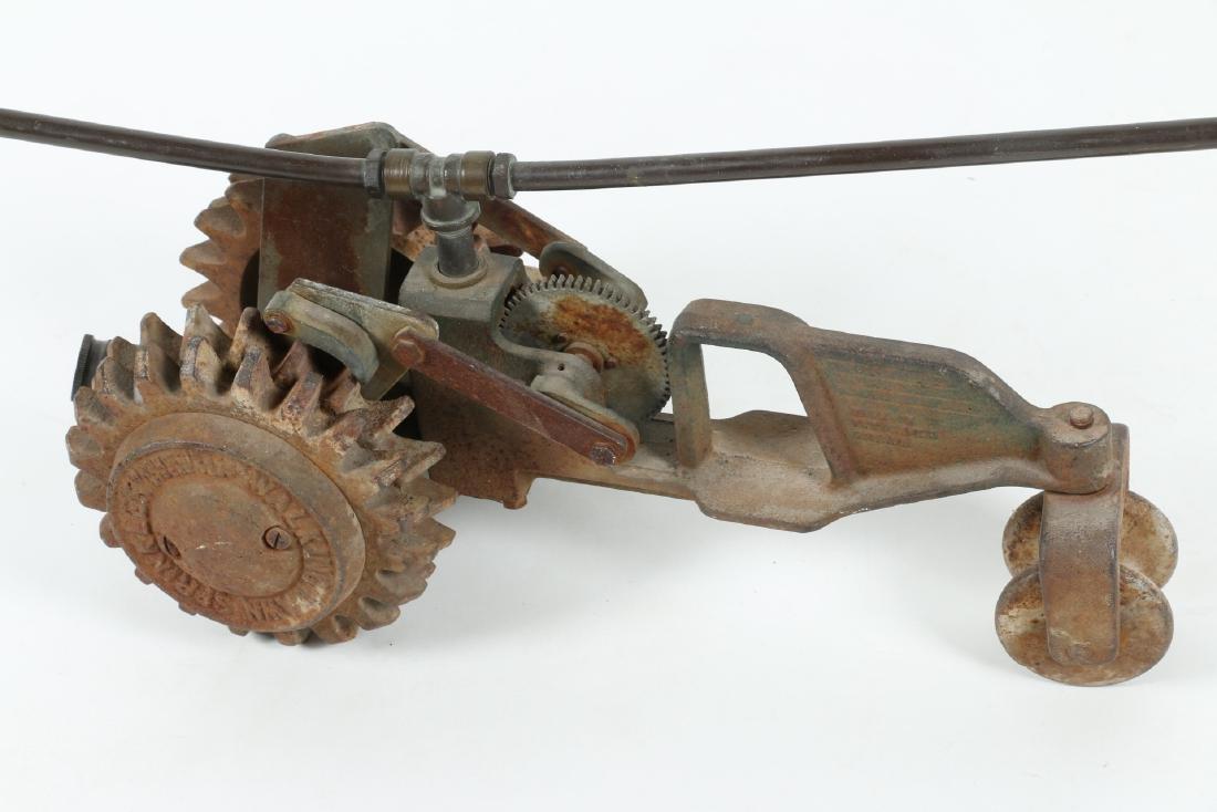 "Cast Iron ""Walking Tractor"" Sprinkler - 2"