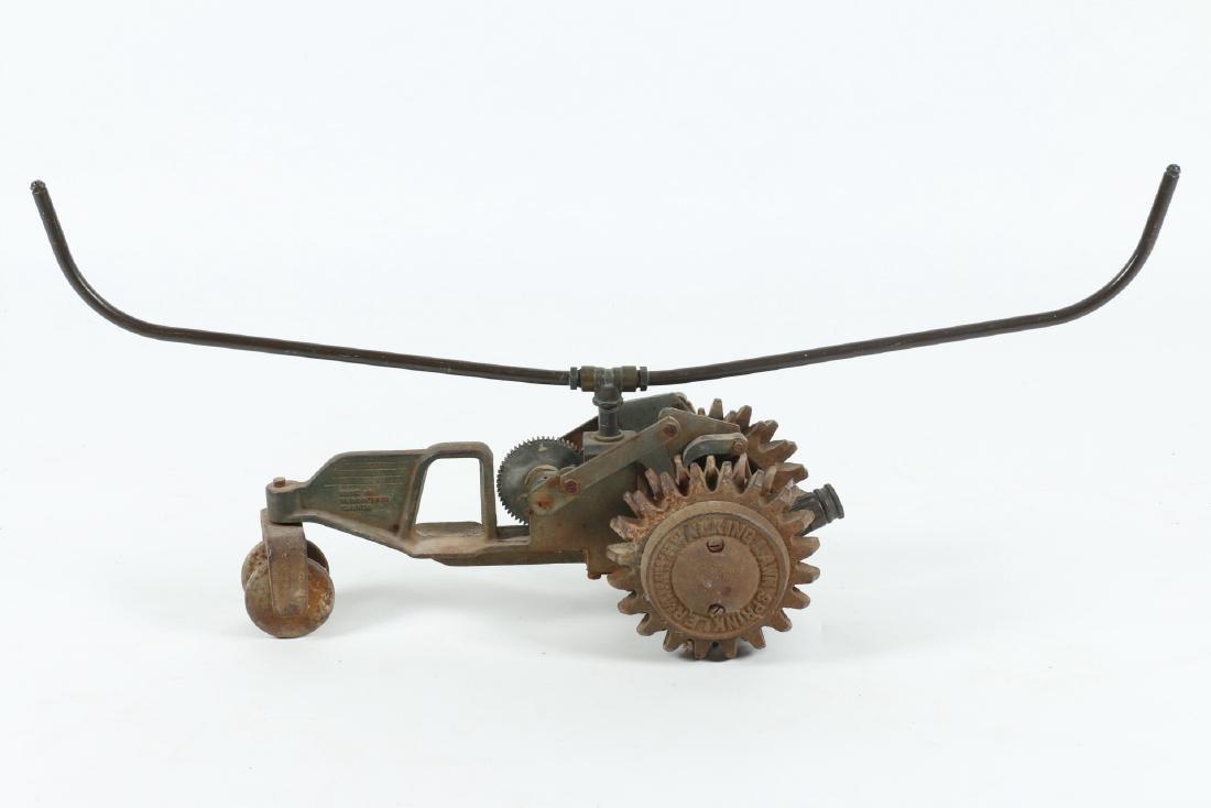 "Cast Iron ""Walking Tractor"" Sprinkler - 3"