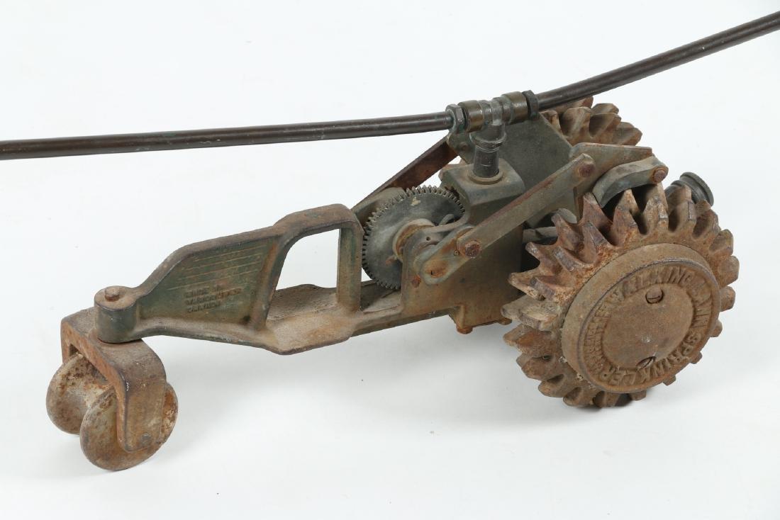 "Cast Iron ""Walking Tractor"" Sprinkler - 4"