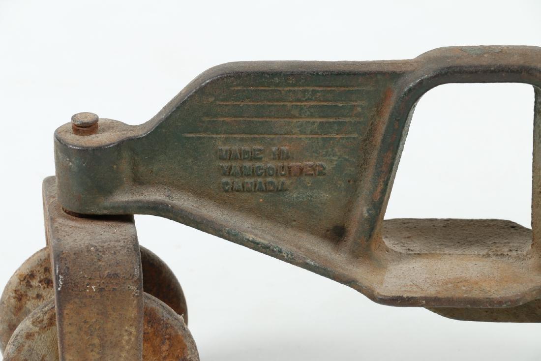 "Cast Iron ""Walking Tractor"" Sprinkler - 5"