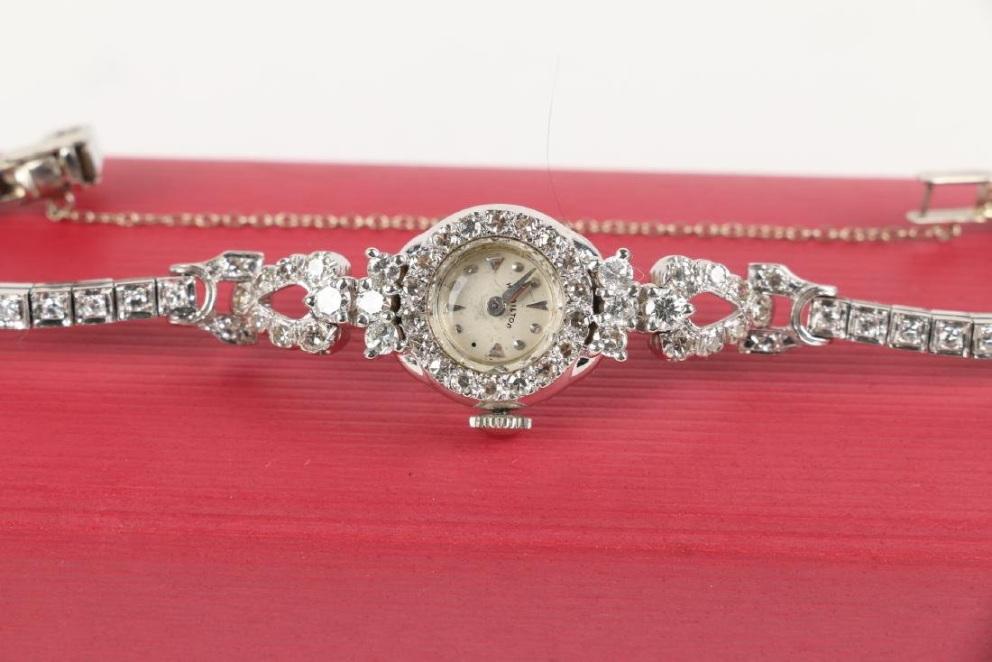 14K Gold Diamond Cocktail Watch - 3