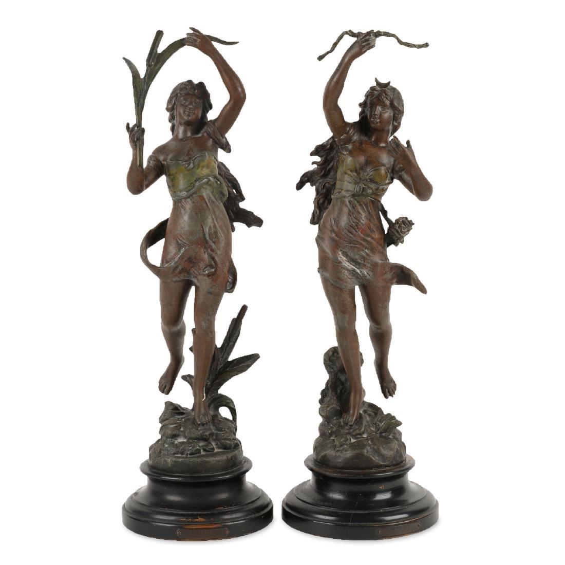 Henryk Kossowski Spelter Statuettes