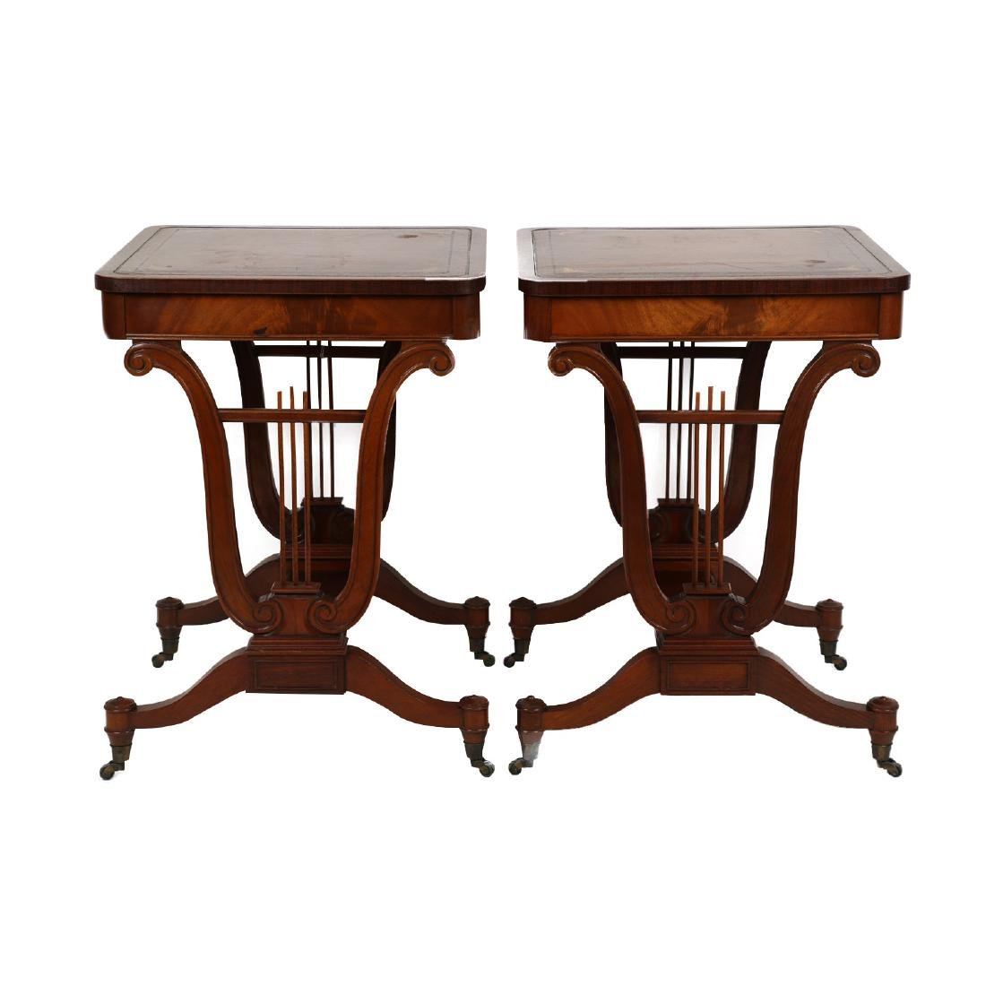 English Mahogany Side Tables
