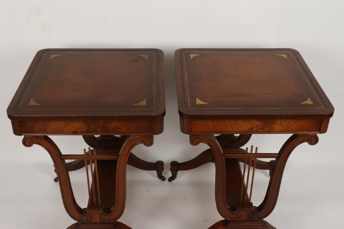 English Mahogany Side Tables - 2
