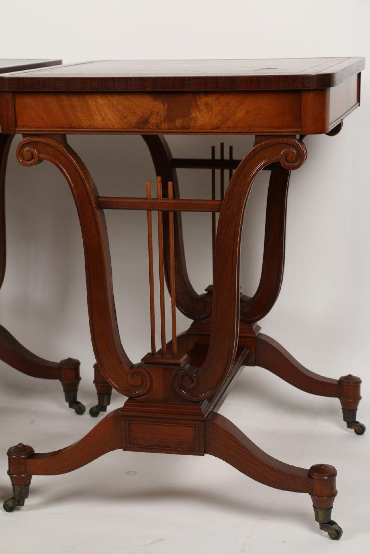 English Mahogany Side Tables - 3