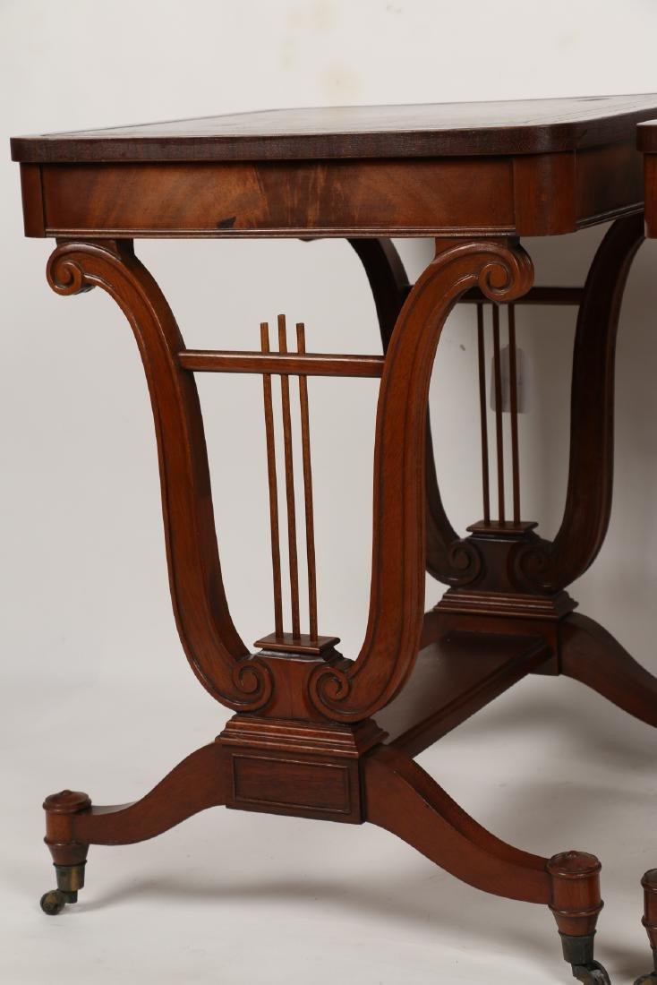 English Mahogany Side Tables - 4