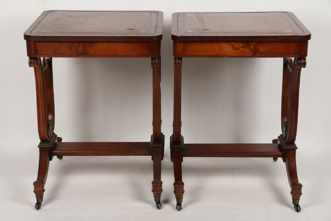 English Mahogany Side Tables - 5