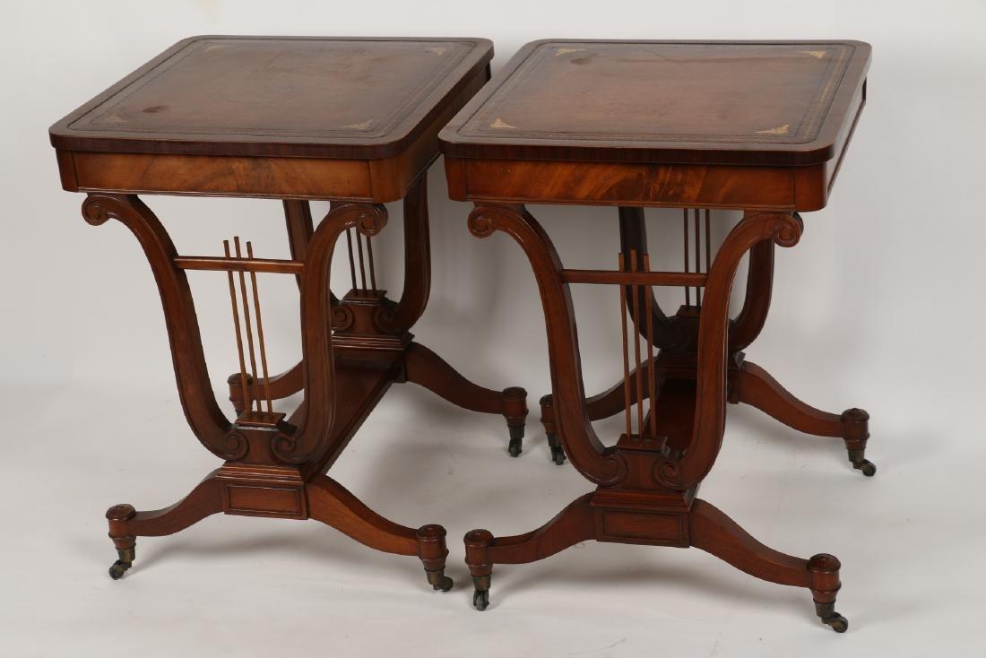 English Mahogany Side Tables - 6