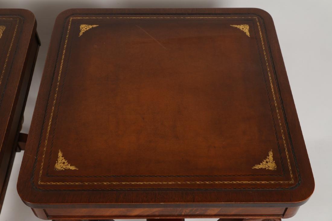 English Mahogany Side Tables - 7