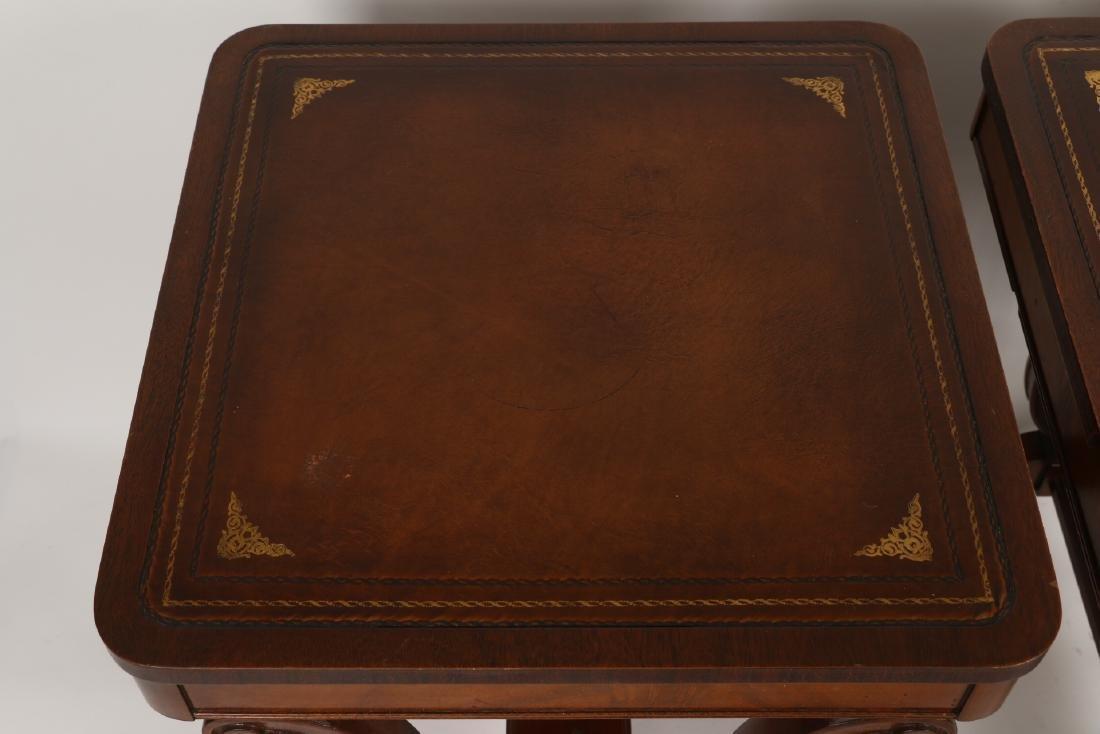 English Mahogany Side Tables - 8