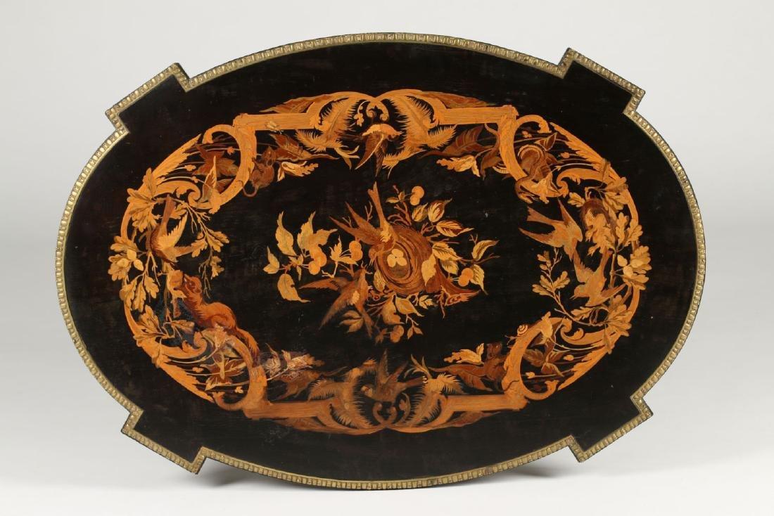 Inlaid Renaissance Revival Table - 10