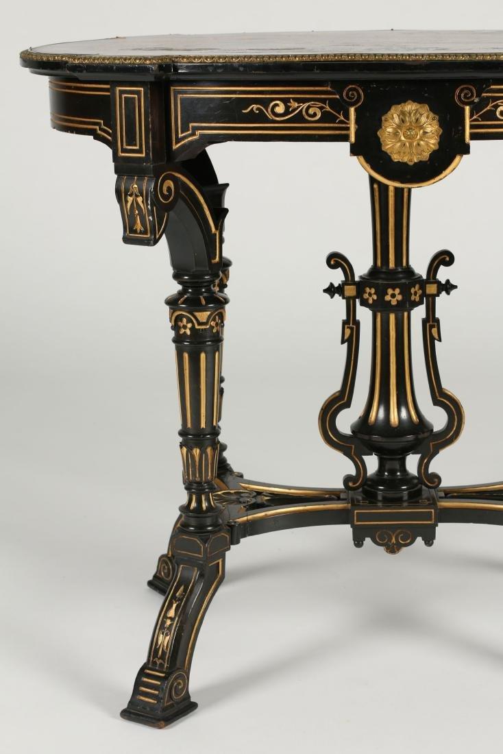 Inlaid Renaissance Revival Table - 3