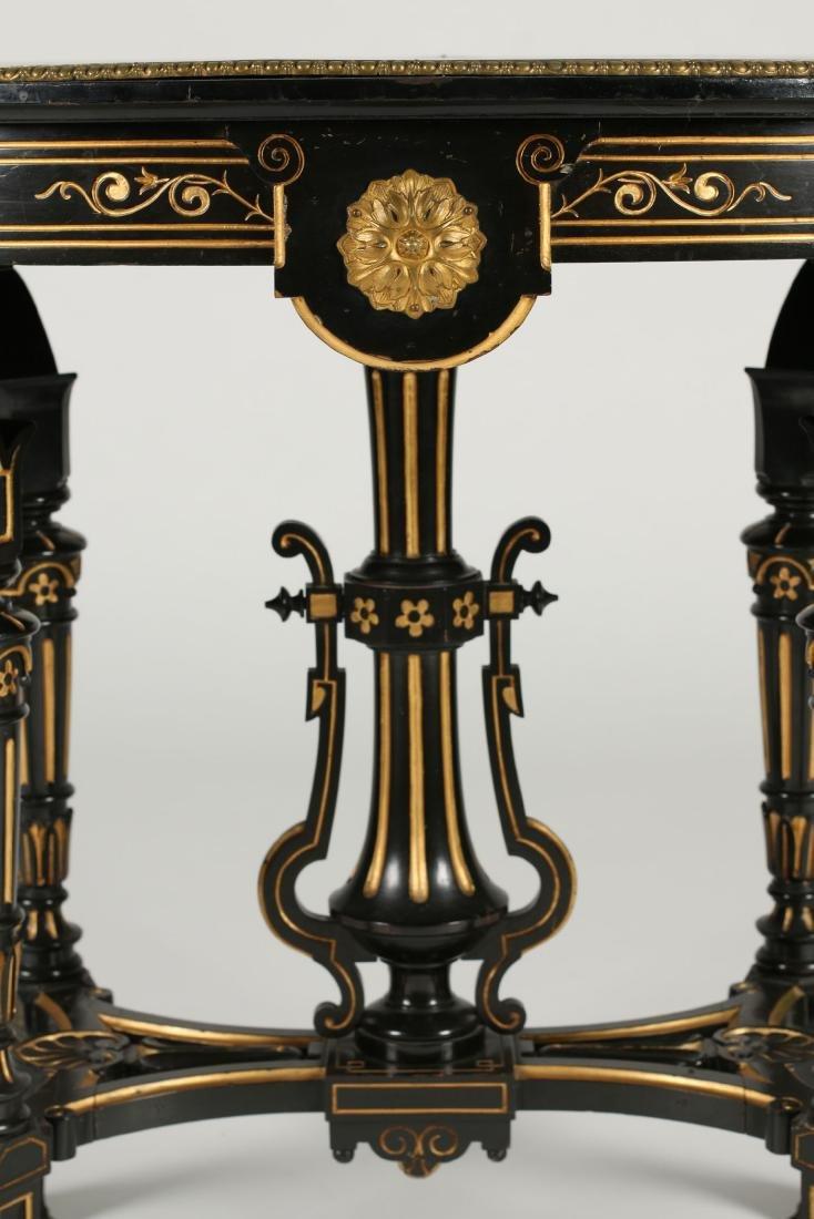 Inlaid Renaissance Revival Table - 5