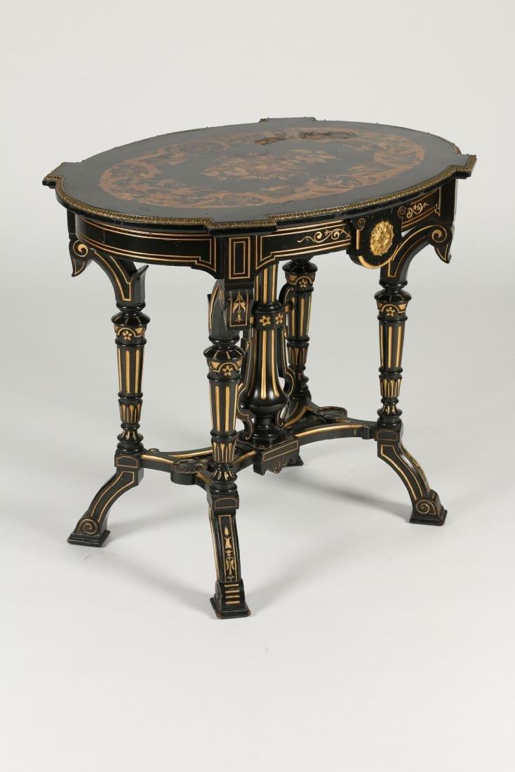 Inlaid Renaissance Revival Table - 7