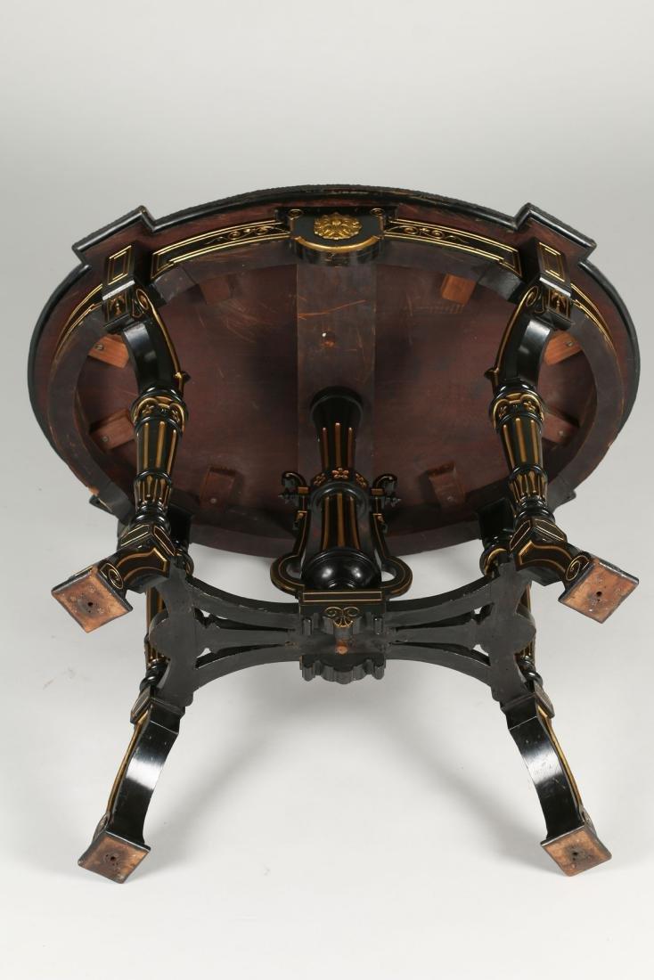 Inlaid Renaissance Revival Table - 9
