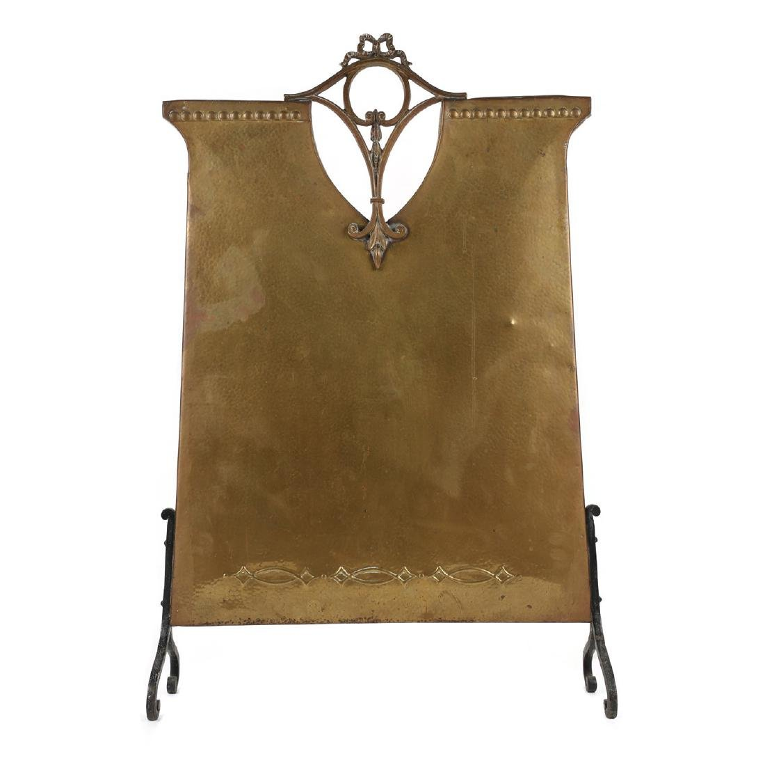 Hammered Copper Fire Screen