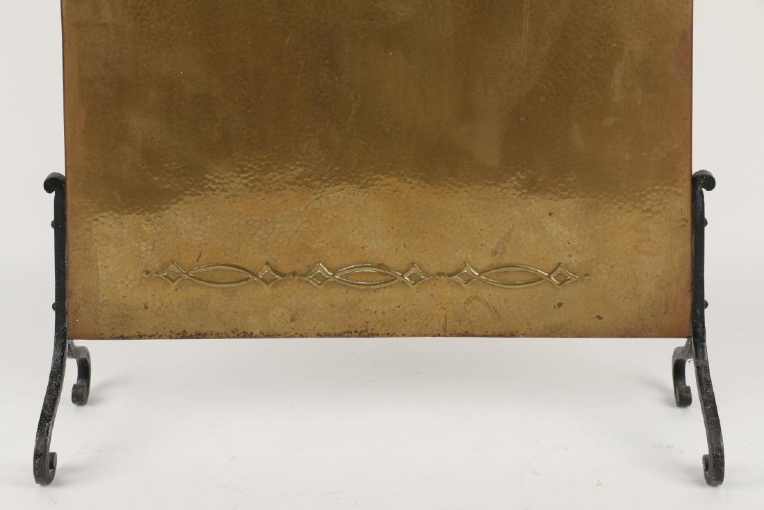 Hammered Copper Fire Screen - 2