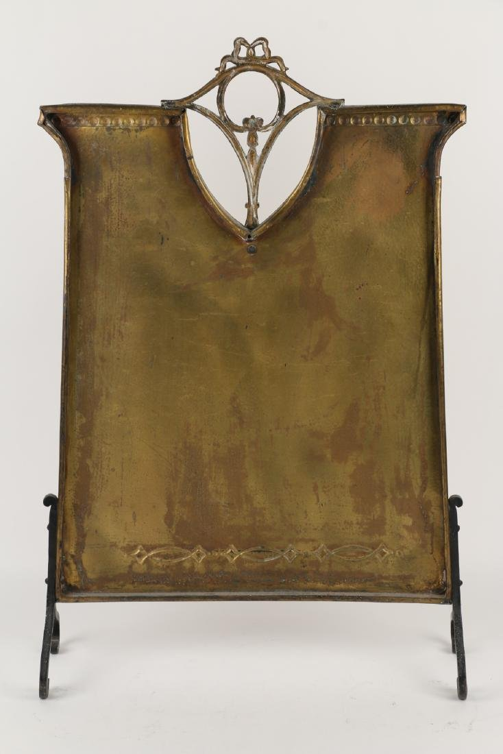 Hammered Copper Fire Screen - 5