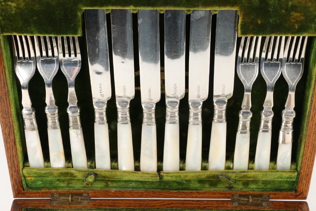 Cased Silverplate Cutlery Sets - 6