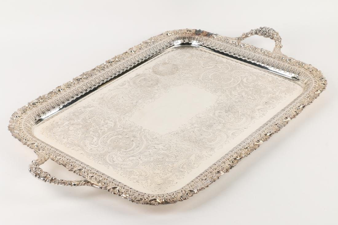 Silverplated Serving Tray - 2