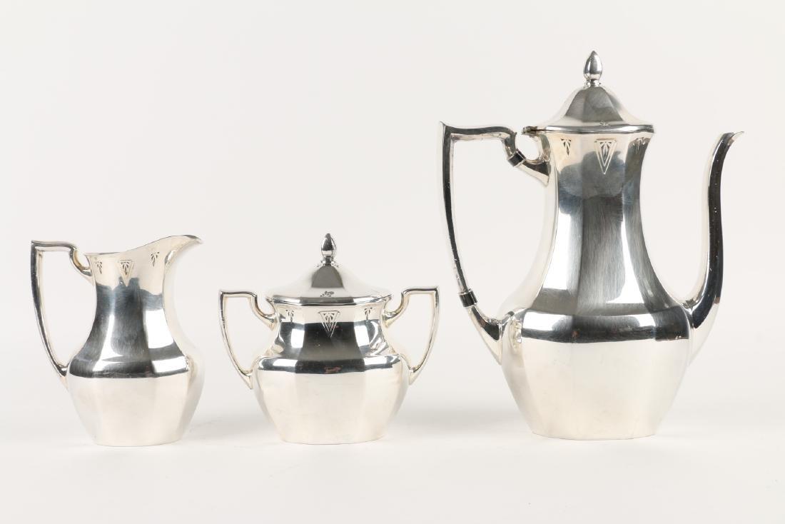 Art Deco Silverplate Tea Service - 6
