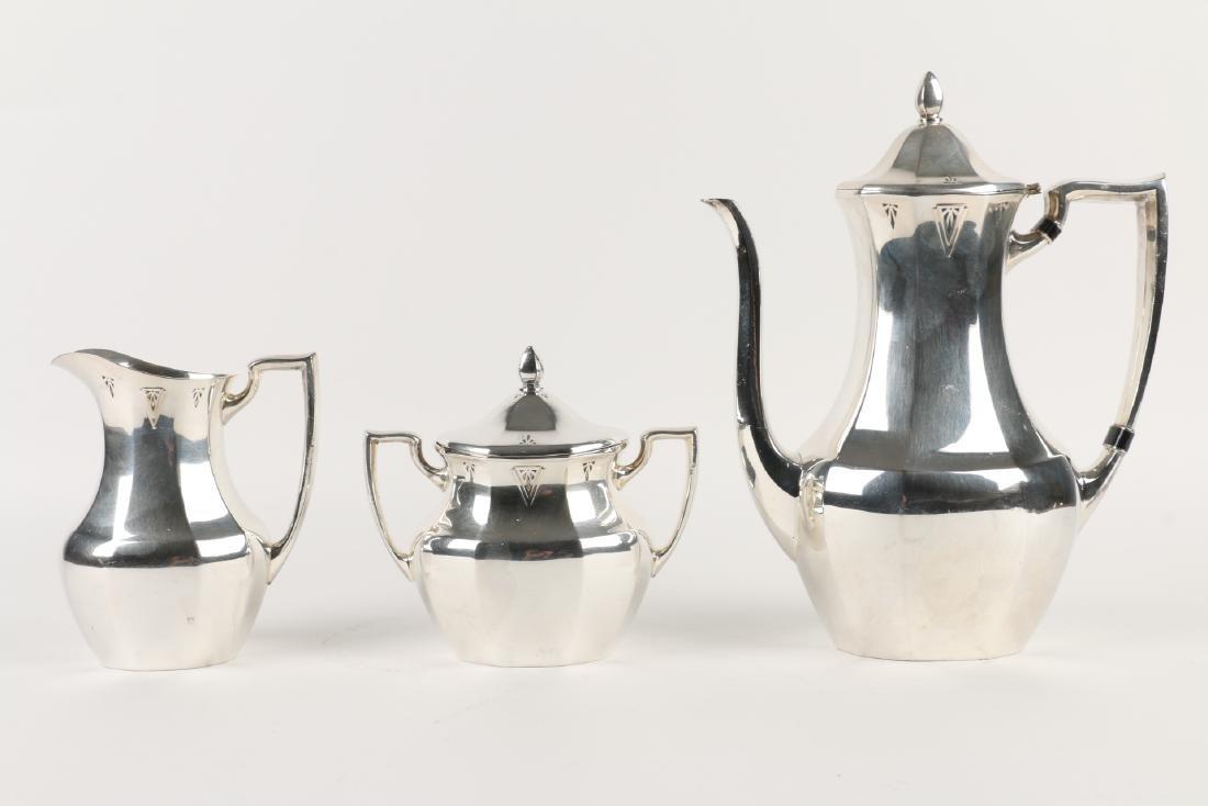 Art Deco Silverplate Tea Service - 8