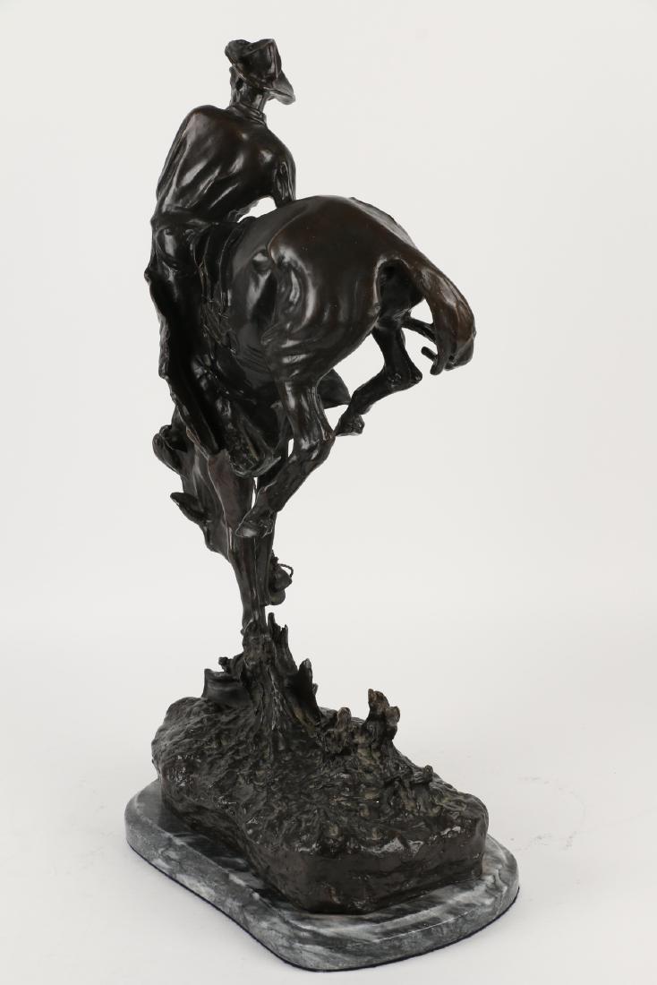 Frederic Remington Bronze Sculpture - 3