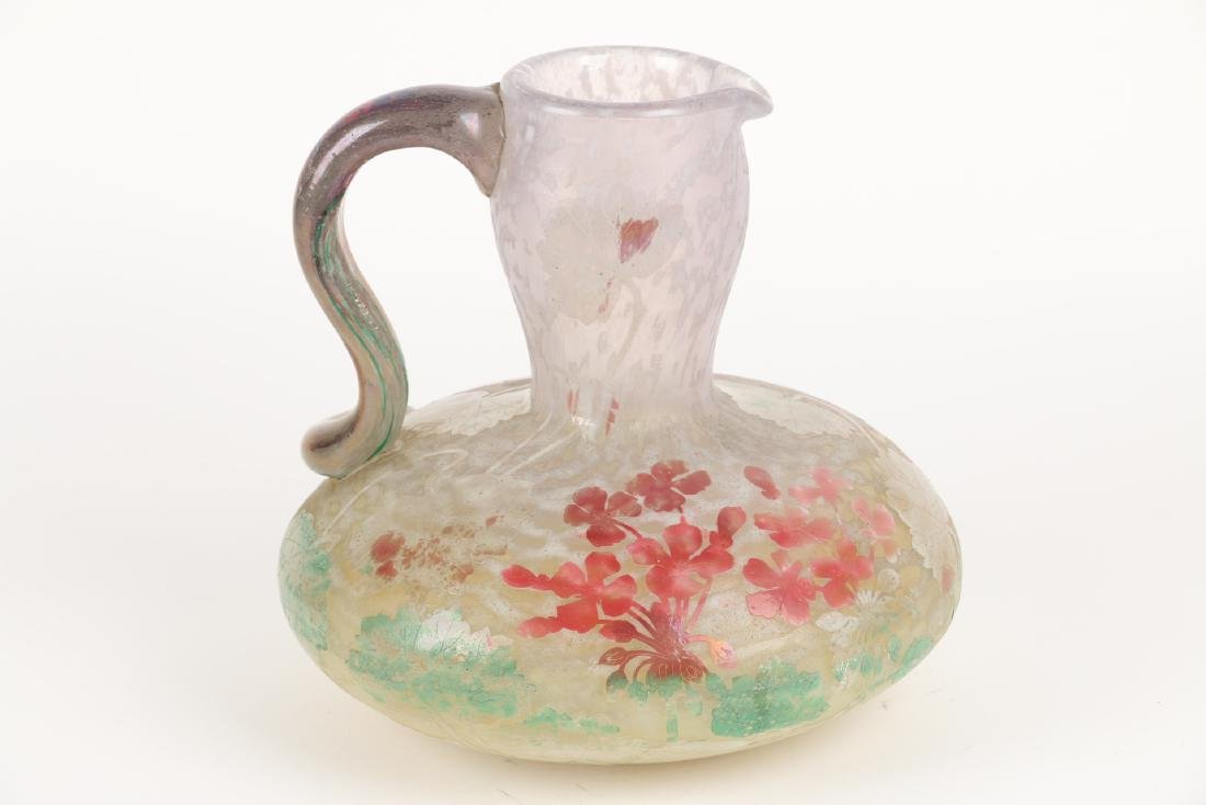 Impressive Daum Cameo Glass Pitcher - 4