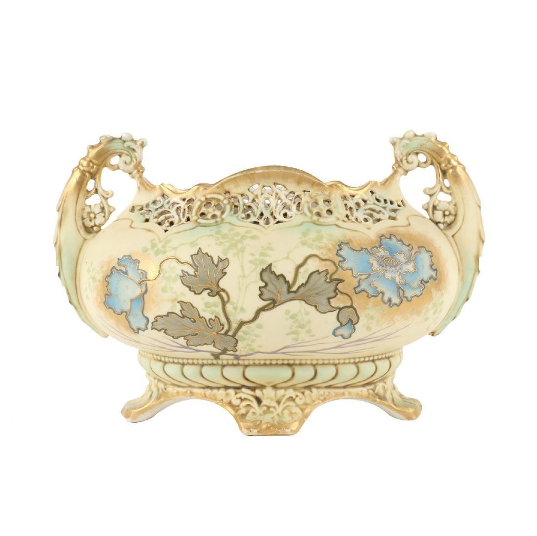 Ernst Wahliss Porcelain Reticulated Vase