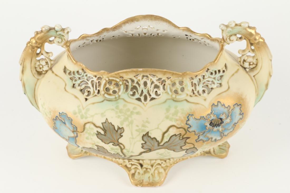 Ernst Wahliss Porcelain Reticulated Vase - 2