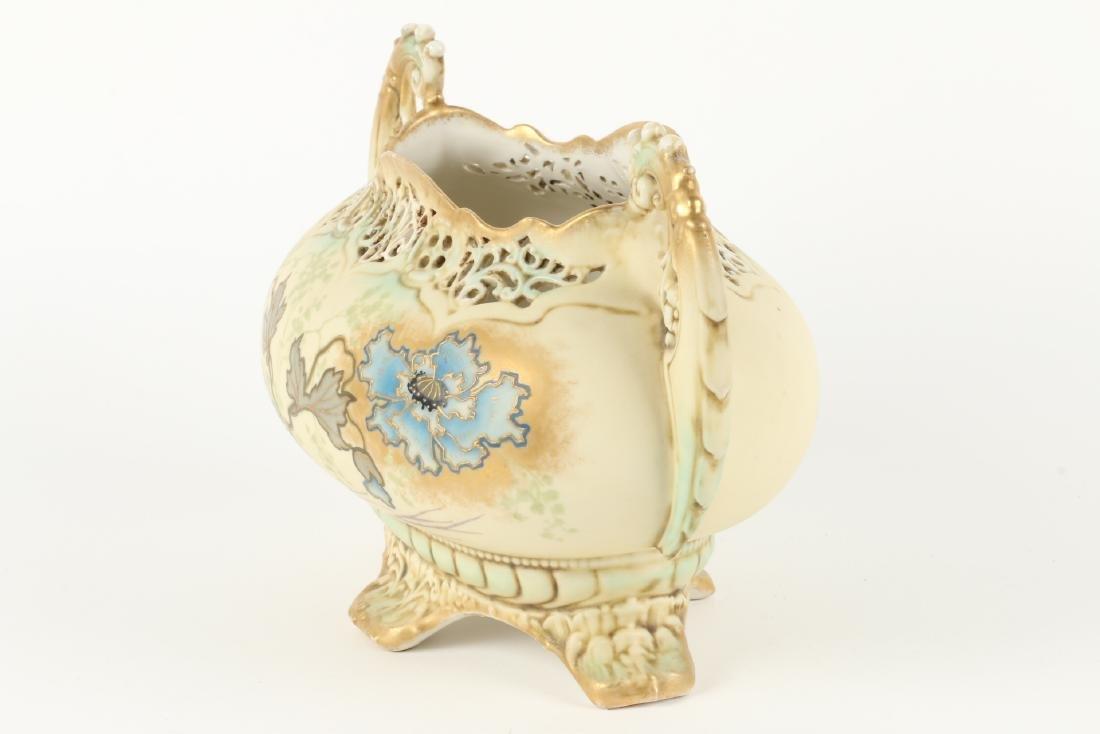 Ernst Wahliss Porcelain Reticulated Vase - 3