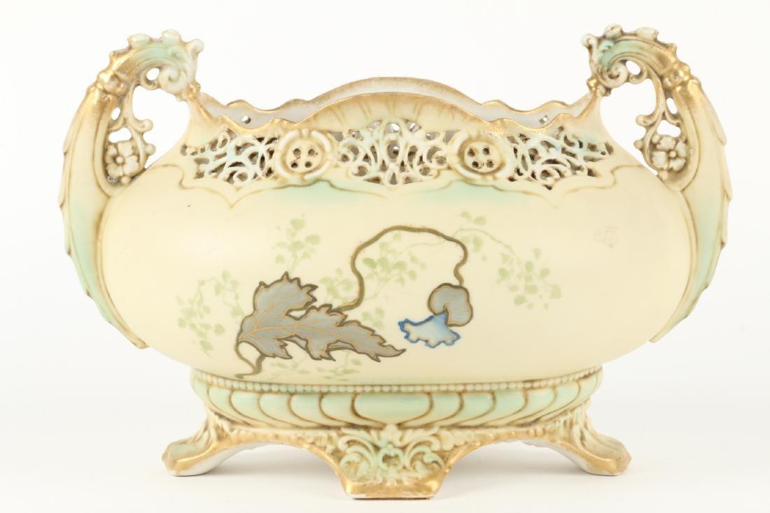 Ernst Wahliss Porcelain Reticulated Vase - 4