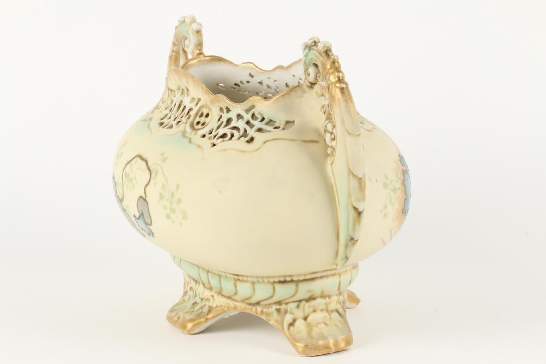 Ernst Wahliss Porcelain Reticulated Vase - 5