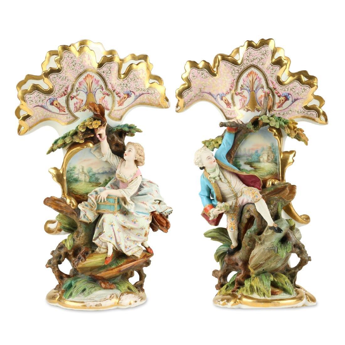Exceptional Paris Porcelain Vases