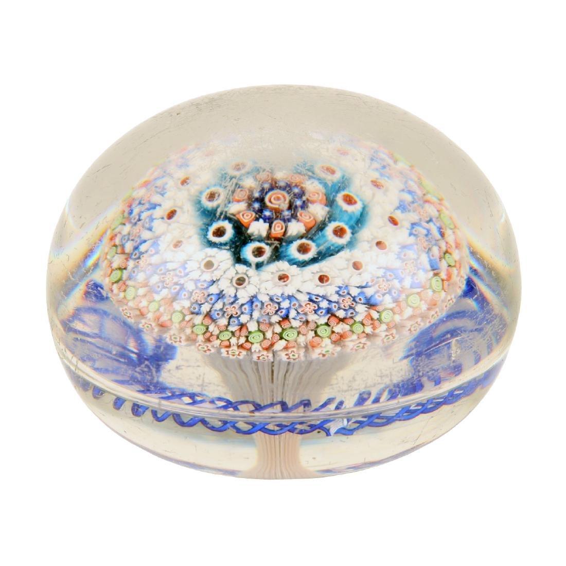 Baccarat Millefiori Art Glass Paperweight