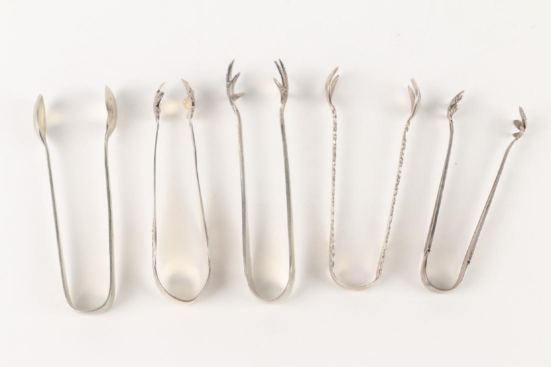 Sterling Silver & Silverplate Sugar Tongs - 4