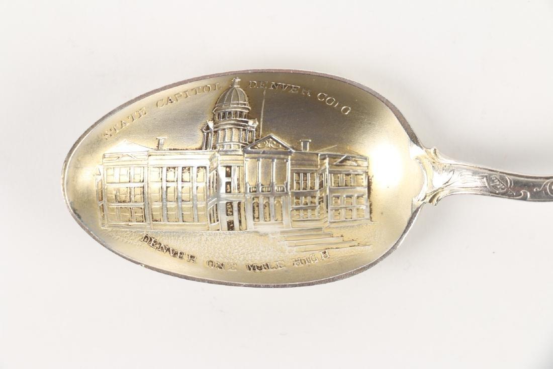 Silver Souvenir Spoons - 6