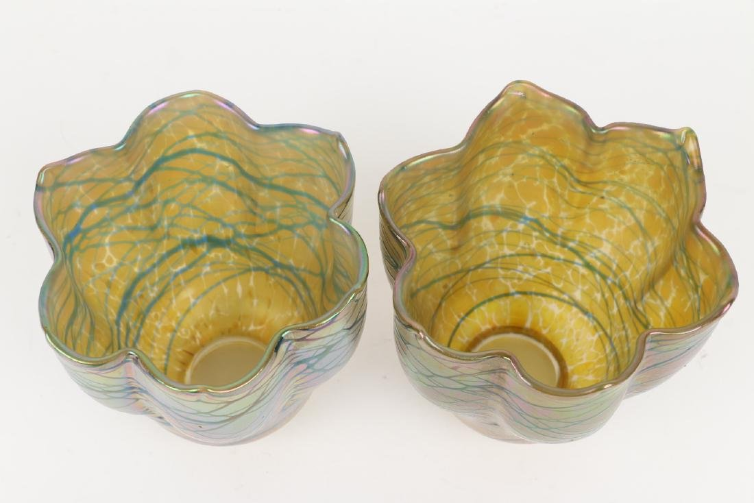 Loetz Art Glass Lamp Shades - 5