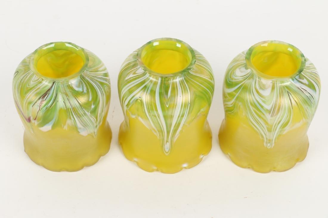 Loetz Art Glass Lamp Shades - 2