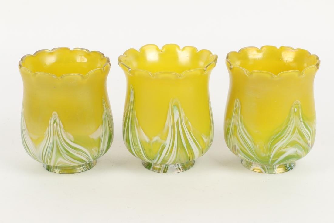 Loetz Art Glass Lamp Shades - 4