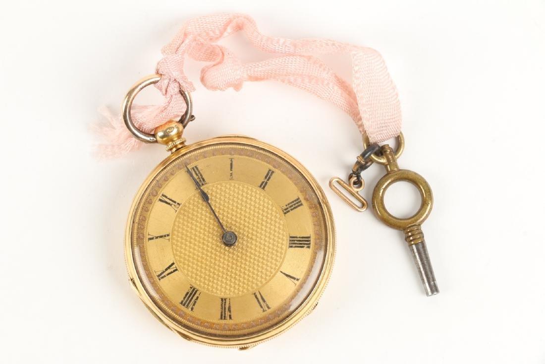 18K Gold English Pocket Watch - 10