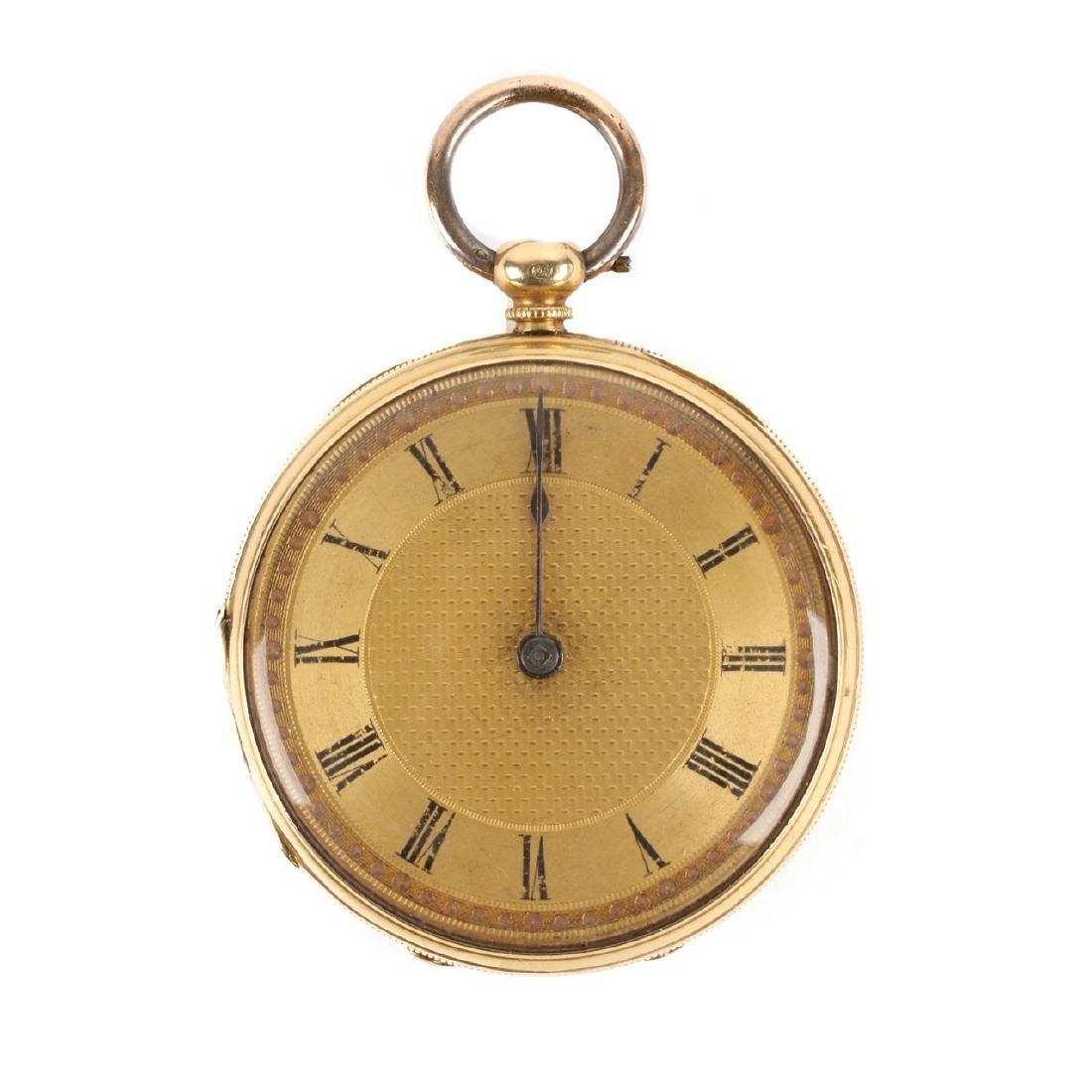 18K Gold English Pocket Watch