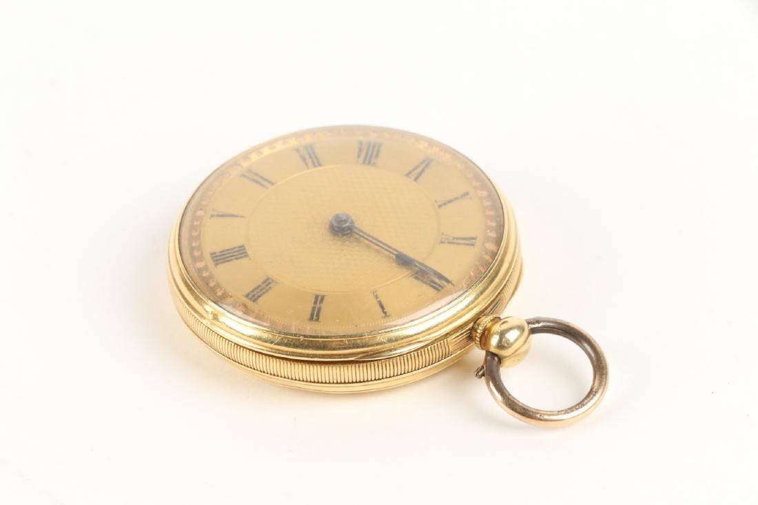 18K Gold English Pocket Watch - 2