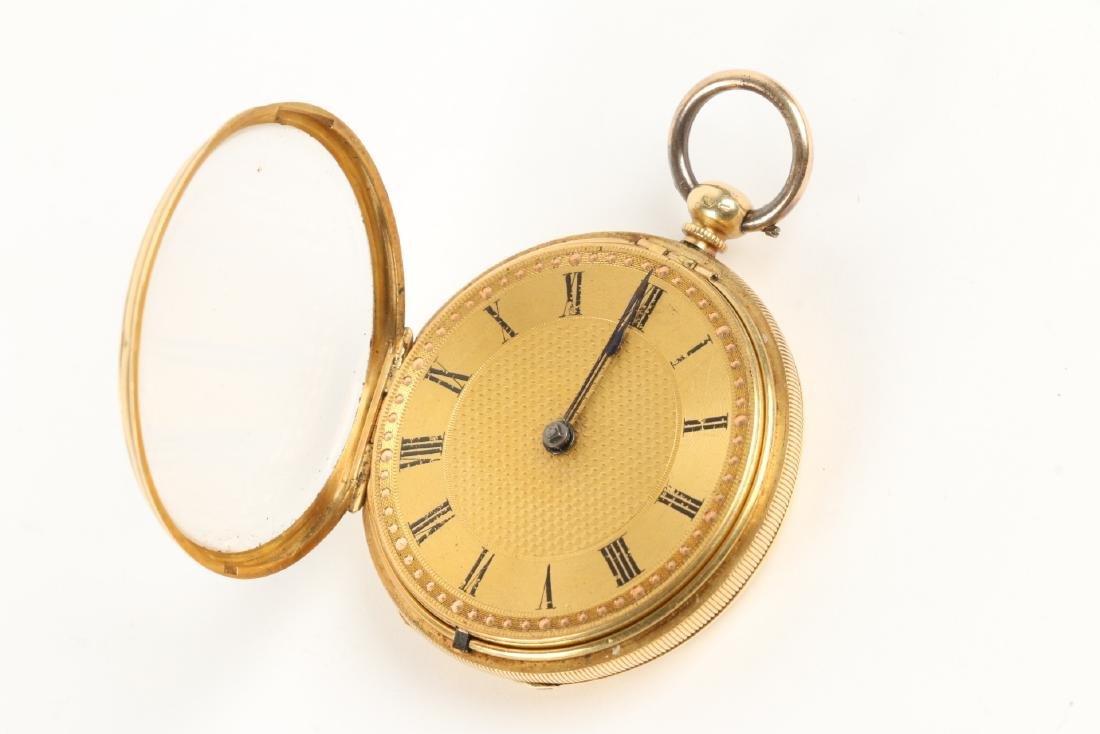18K Gold English Pocket Watch - 4