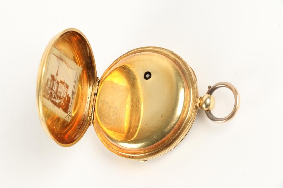 18K Gold English Pocket Watch - 5