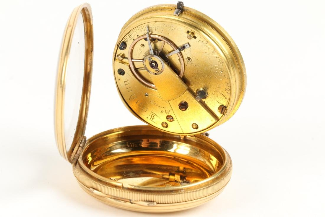 18K Gold English Pocket Watch - 7